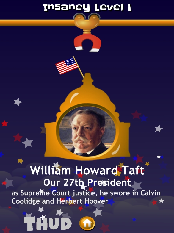 THUD Presidents William Howard Taft Screen